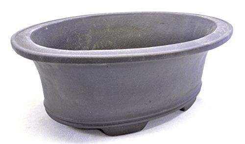 Purple Clay Oval Bonsai Pot 13x10x4in - Bonsai Pottery