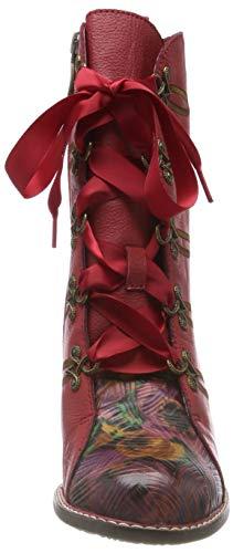 Laura Eva Rojo 01 Vita Mujer Botines Para Rouge rouge rrqAw75