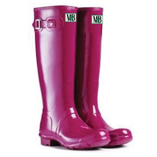 Moneysworth Och Bästa Womens Höga Gummi Welly Boot Violett