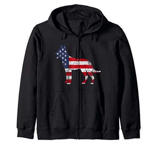 American Patriotic Belgian Tervuren ACZ010a  Zip Hoodie ()
