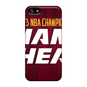 Shock-Absorbing Hard Phone Covers For Iphone 5/5s With Support Your Personal Customized Stylish Miami Heat Series DrawsBriscoe