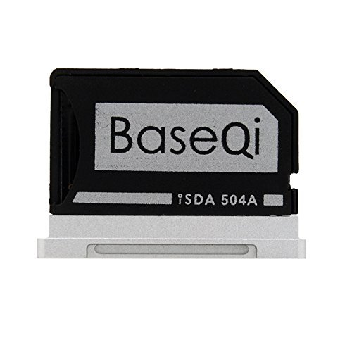 BASEQI FBA_iSDA504ASV aluminum microSD Adapter works with MacBook Pro 15