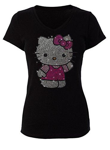 Hello Kitty Clothing For Adults (Hello Kitty Rhinstone T-Shirt)