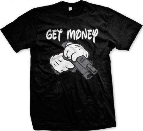 Get Money, Cartoon Hands Holding a Gun Men's
