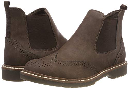 Brown 21 oliver Boots Women''s Chelsea mocca 304 25444 S OYPfxwP