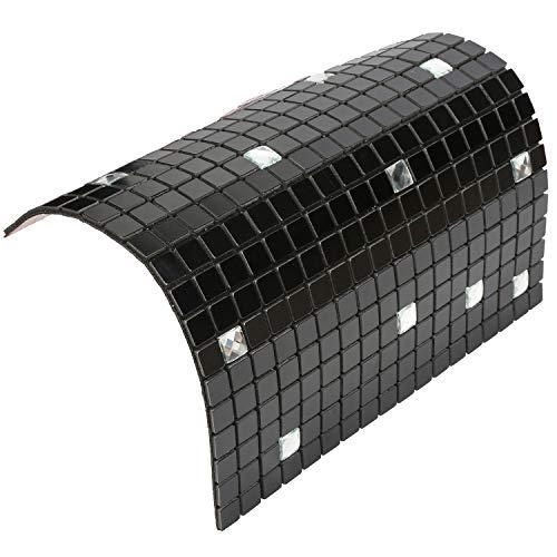 HomeyStyle Peel and Stick Tile Backsplash for Kitchen Wall Decor Aluminum Surface Metal Mosaic Tiles Sticker,Black Glass Mixed,12