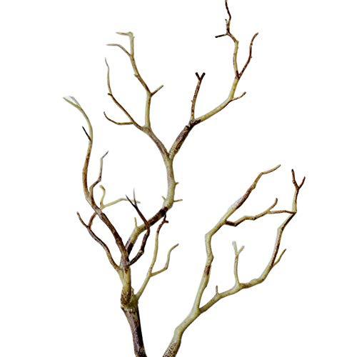 - litymitzromq Artificial Flowers Fake Plants, 1Pc 35cm Artificial Branch Plastic Tree Dried Plant Home Wedding Party Decor Faux Fake Flowers Floral Arrangement