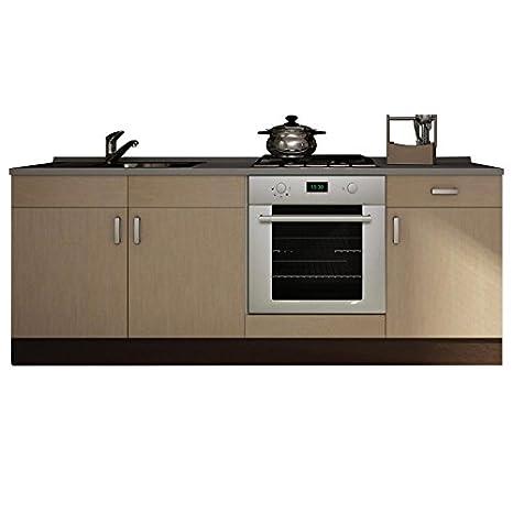 Base per cucina componibile modulare wengè e acero sbiancato BS7103 ...