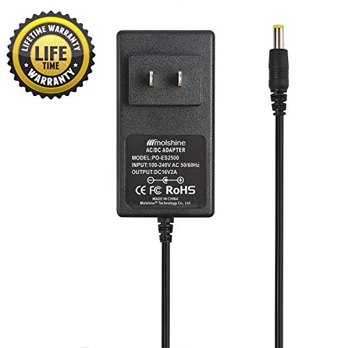 Price comparison product image Molshine (6.6ft Cable) AC Adapter for Booster PAC ES2500 ESA22 ES2500KE ESA217 ES5000 ESP5500 J900 J850 J1000 J2000 CS1000 CS2000 Car(via Small Pin) Battery Jump Starter Outpac Rescuepac Charger