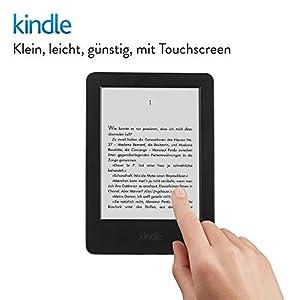Kindle eReader, 15,2 cm (6 Zoll) Touchscreen ohne Spiegeleffekte, WLAN (Schwarz) - mit Spezialangeboten (Vorgängermodell - 7. Generation)