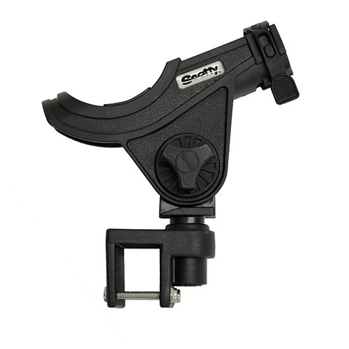 (Scotty #284-BK Baitcaster/Spinning Rod Holder w/ #243 Square Rail Mount)