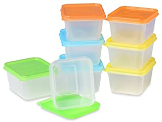 """EasyLunchboxes """"Mini-Dippers"""" Small Dip, Condiment, or Sauce Containers. Leak-Resistant. Set of 8 (B00958N4GU) 