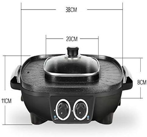 BBQ Hot Pot, Double indépendant Contrôle de la température for régler le barbecue Hot Pot, 8 secondes chauffage rapide Smokeless Barbecue Pot de Split, grils électriques hsvbkwm