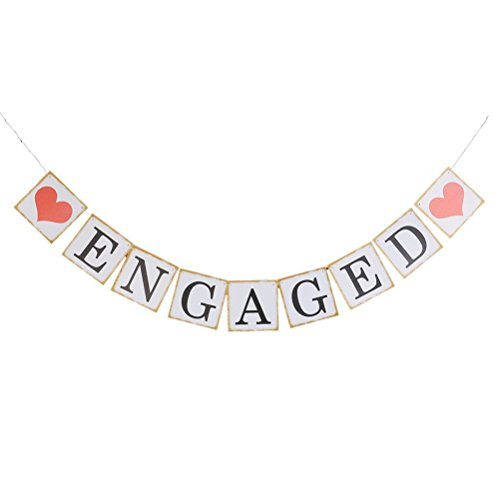 Pixnor Engagement Party Decorations Bunting Banners ENGAGED (Engagement Decorations)