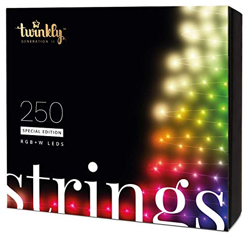 Twinkly Smart Decorations Custom LED String Lights Special Edition - App Controlled Light Strings with 250 RGB+W LED Lights - IoT Ready Customizable Lighting - Create or Download Light Displays (Christmas Pro Led Lights)