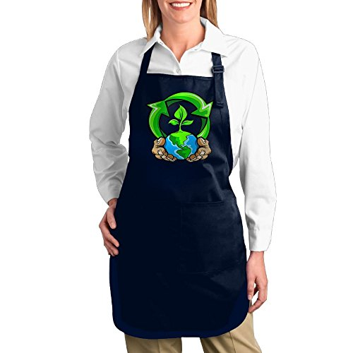 Dogquxio Take Care Of Our Planet Kitchen Helper Professional Bib Apron With 2 Pockets For Women Men Adults - Planet Blog Blue Shop