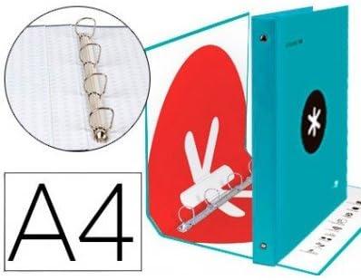 Liderpapel 79316 - Carpeta 4 anillas, Pack de 2: Amazon.es: Oficina y papelería