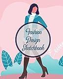 Fashion Design Sketchbook: Textile Crafts Hobbies