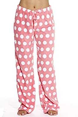 Just Love Women's Buffalo Plaid Plush Check Pajama Pants