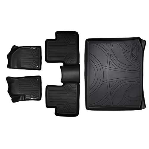 MAXFLOORMAT Floor Mats and MAXTRAY Cargo Liner Set Black for 2014-2018 Jeep Cherokee