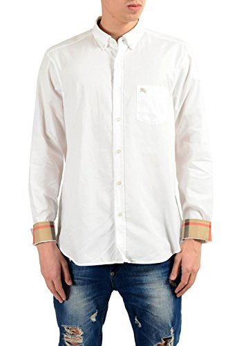 BURBERRY Brit Men's White Long Sleeve Casual Shirt Size US 2XL IT - Thailand Burberry Shop