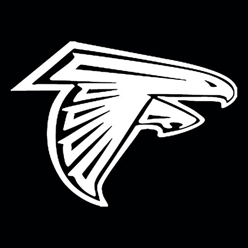 NFL - Atlanta Falcons (WHITE) Waterproof Vinyl Decal Stickers for Laptop Phone Helmet Car Window Bumper Mug Tuber Cup Door Wall - Falcon Emoji