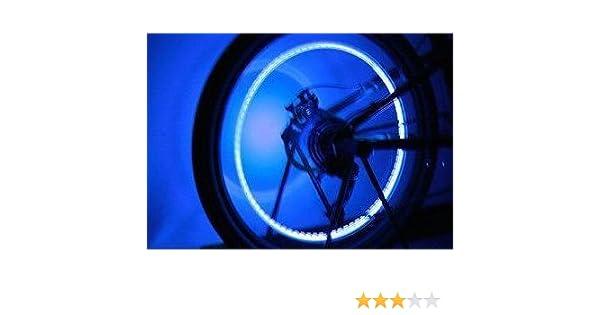 Edelsign - 2 tapones de válvula de rueda con luz led para bicicletas, coches, etc. Blau / blue: Amazon.es: Deportes y aire libre