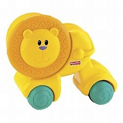 Fisher-Price Growing Baby Press & Crawl Lion: Toys & Games