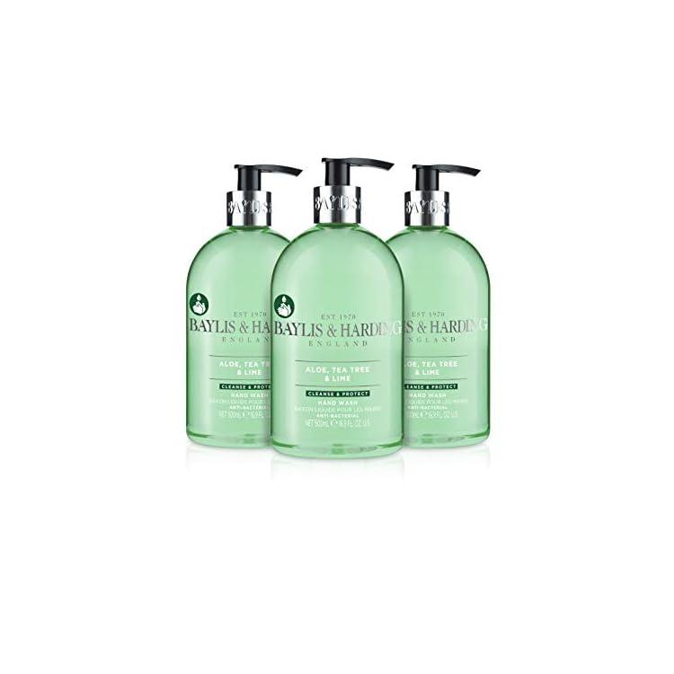 Baylis & Harding Aloe, Tea Tree and Lime Anti Bacterial Hand Wash, 500 ml, Pack of 3