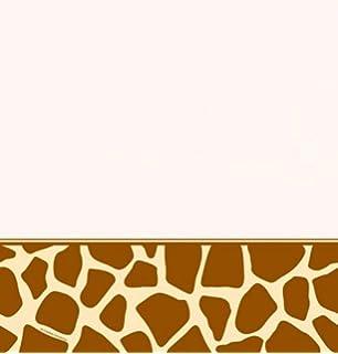Amazon.com: Creative Converting Animal Print Giraffe Square Dinner ...