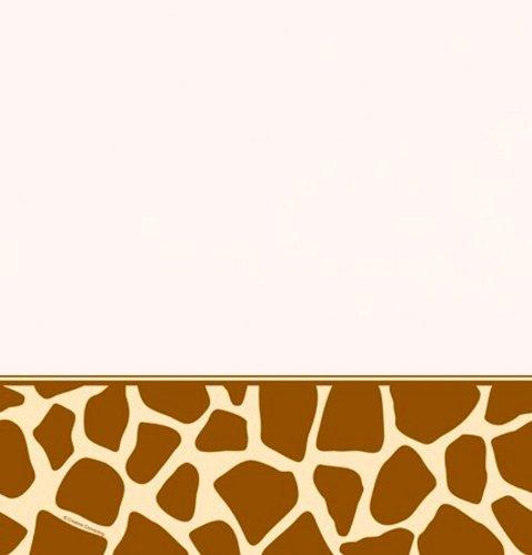 Plastic Table Cover, Animal Print Giraffe