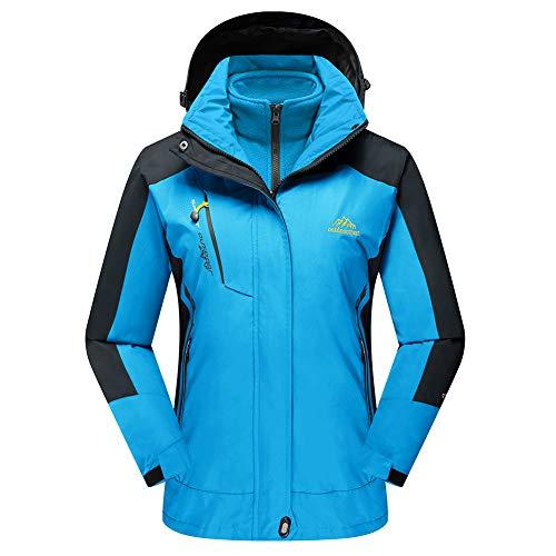 f9ad3443ec TACVASEN Women s Hooded 3-in-1 Winter Interchange Jacket Water Repellent  Softshell Fleece Inner