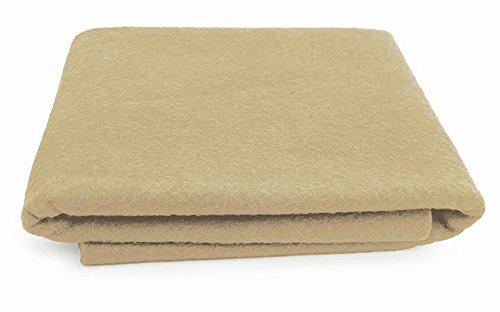 Oatmeal Creamy Brown - XXL Wool Felt Sheet - 100% Virgin Merino Wool - 36 in x 36 in - Deep Natural White