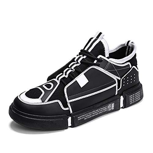 Sneakers Scarpe Da Uomo Casual Fashion Mesh Yan Spring amp; Academy Basse Passeggio Calzature quotidiane Up Lace Nero Fall PqRxdww