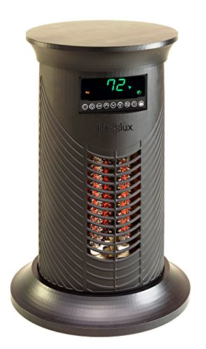 Lifesmart Products LS19IQHM Infrared Heater, 1500-watt, Black Infrared Lifesmart Products