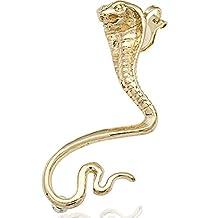 Q&Q Fashion Egypt Cleopatra Gold 3D Snake Cobra Ear Cuff Stud Earring Goth Punk Fancy Dress