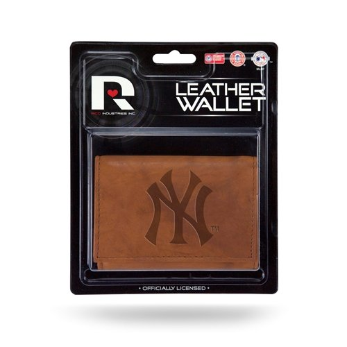 New York Yankees Official MLB Leather Trifold Wallet by Rico ()