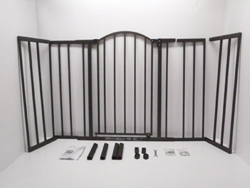 """Summer Metal Expansion 6-Foot-Wide Extra Tall Walk-Thru Baby Gate, Bronze Finish – 36"""" Tall, Fits Openings of 44"""" to 72…"""