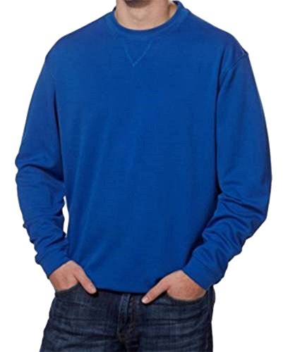 Price comparison product image Pebble Beach Performance Mens Crew Neck Golf Pullover (Large,  Blue)