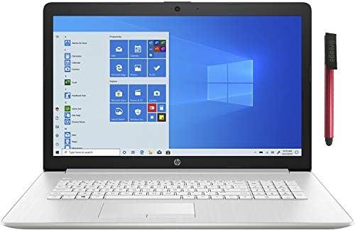 """HP 17.3"""" FHD Laptop Computer, AMD Ryzen 3 3250U as much as 3.5GHz (Beat i5-7200U), 16GB DDR4 RAM, 1TB HDD+ 512GB PCIe SSD, DVDRW, AC WiFi, Backlit Keyboard, Remote Work, Windows 10, BROAGE 64GB Flash Drive"""