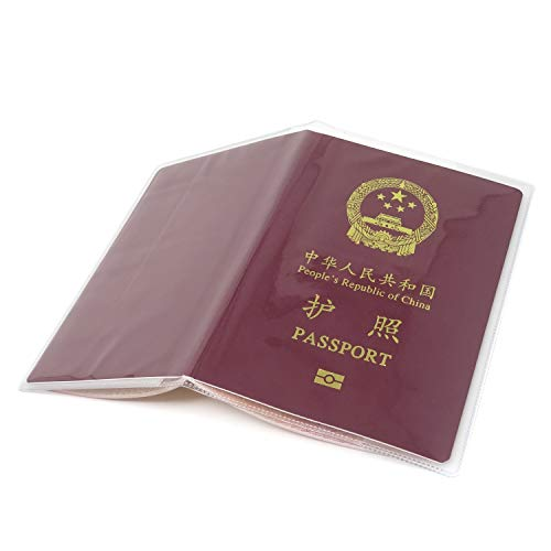 8b604f739a4f Honbay 10PCS Plastic Passport Cover Passport Protector with Extra ...