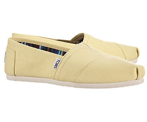 Toms Women's Classics Yellow Casual Shoe 7.5 Women US