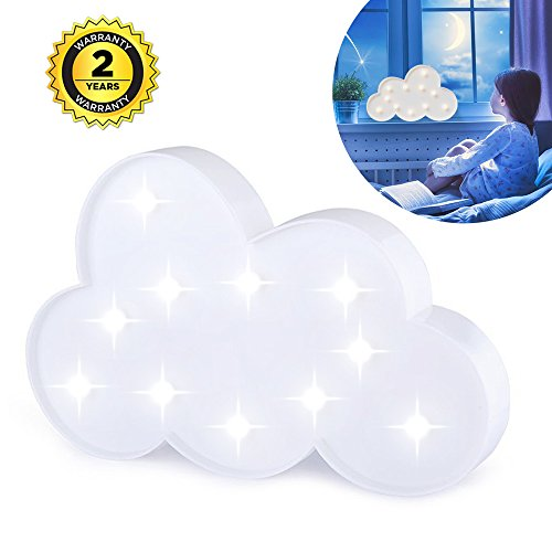 - Lighted Cloud Sign - LED Marquee Cloud Baby Light Nursery Lamp - Home Decor Accents - Cloud Night Lights (White Cloud)