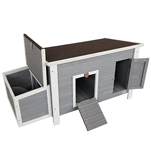 Petsfit Weatherproof Outdoor Chicken Coop with Nesting Box and Removable Bottom for Easy Cleaning, 1-Year Warranty