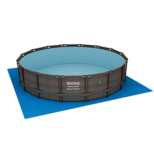 Bestway 14ft x 42in Power Steel Deluxe Above Ground Swimming Pool Set and Pump (Bestway Sand Filter Pump For Swimming Pool)