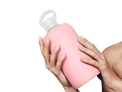 bkr BEST Original Glass Water Bottle Premium Quality Soft Silicone Protective Sleeve BPA Free Dishwasher Safe