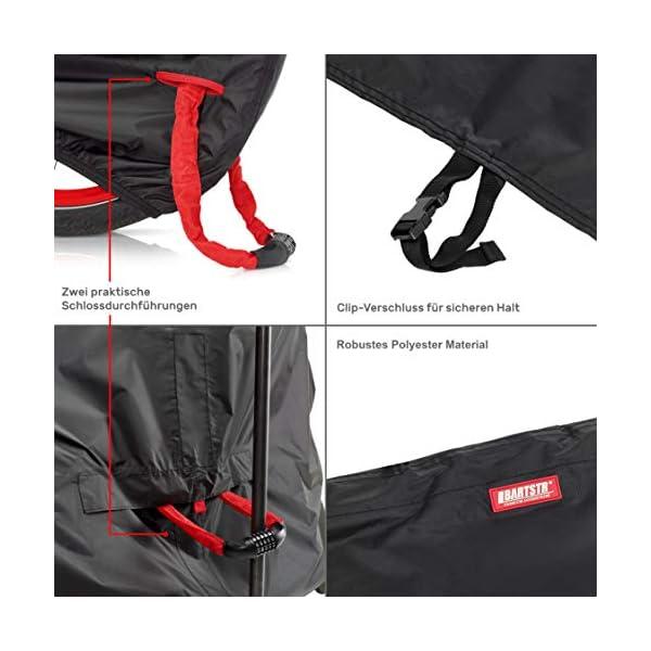 414 youFZ7L BARTSTR Fahrradabdeckung wasserdicht - Wetterfeste Fahrradgarage aus reißfestem Material - Extra stark, hoher UV-Schutz…