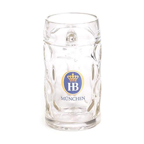 (1 X 0.5 Liter HB Hofbrauhaus Munchen Dimpled Glass Beer Stein)
