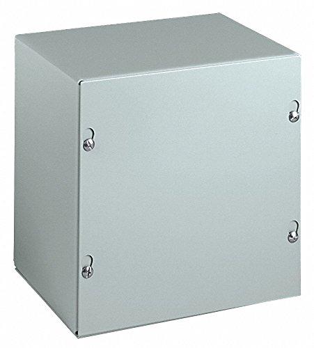 Wiegmann SC242408NK SC-Series NEMA 1 Screw Cover Wallmount Pull Box, No Knockouts, Painted Steel, 24'' x 24'' x 8''