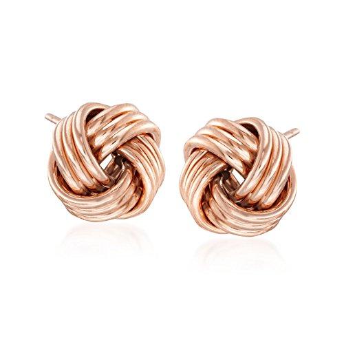 Ross-Simons 14kt Rose Gold Love Knot Stud Earrings by Ross-Simons (Image #3)'